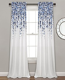 "Weeping Flower 52"" x 95"" Curtain Set"