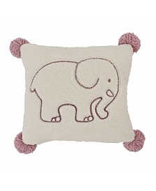 Ivory Ella Ella Sherpa Square Pillow