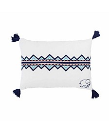 Embroidered Triangle Breakfast Pillow