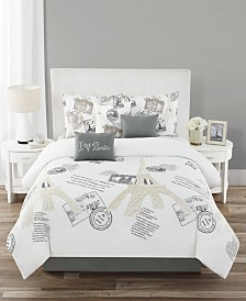 Bonjour Paris 7-Pc. Comforter Sets