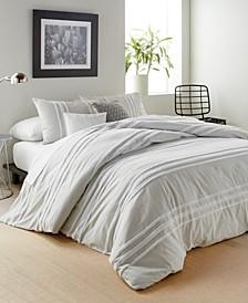 Chenille Stripe King Comforter Set