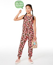 Big Girls Butterfly-Print Jumpsuit, Created for Macy's