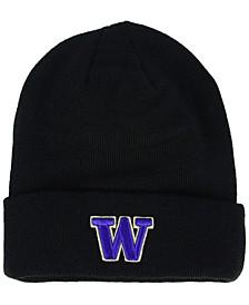 Washington Huskies Basic Team Color Cuff Knit Hat