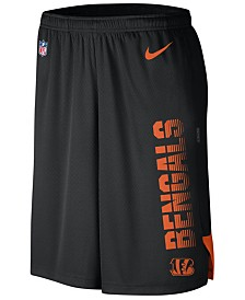 Nike Men's Cincinnati Bengals Player Knit Breathe Shorts