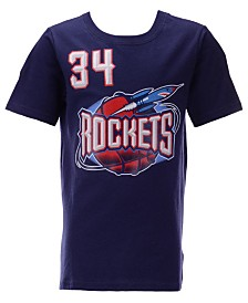 Mitchell & Ness Big Boys Hakeem Olajuwon Houston Rockets Hardwood Classic Player T-Shirt