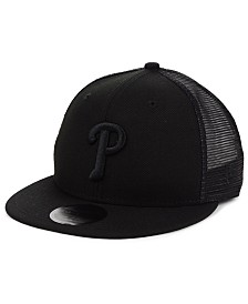 New Era Philadelphia Phillies Blackout Meshback 59FIFTY-FITTED Cap