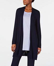 Textured-Knit Long Cardigan