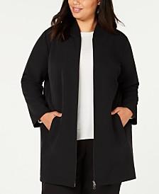 Eileen Fisher Plus Size Long Flight Jacket