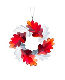 Swarovski Wreath Leaves Ornament