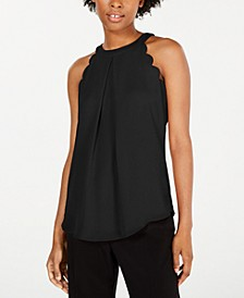 Juniors' Scallop Halter Top