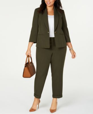 Plus Size Cuffed Ankle Pants