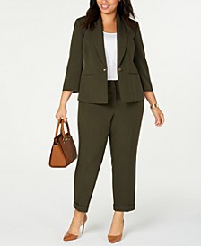 Plus Size Turn-Key Blazer & Cuffed Pants