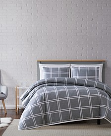 Leon Plaid Full/Queen Duvet Set