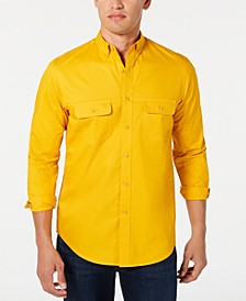 Men's Stretch Twill Shirt, Created for Macy's