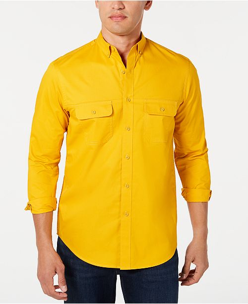 Club Room Men's Stretch Twill Shirt, Created for Macy's