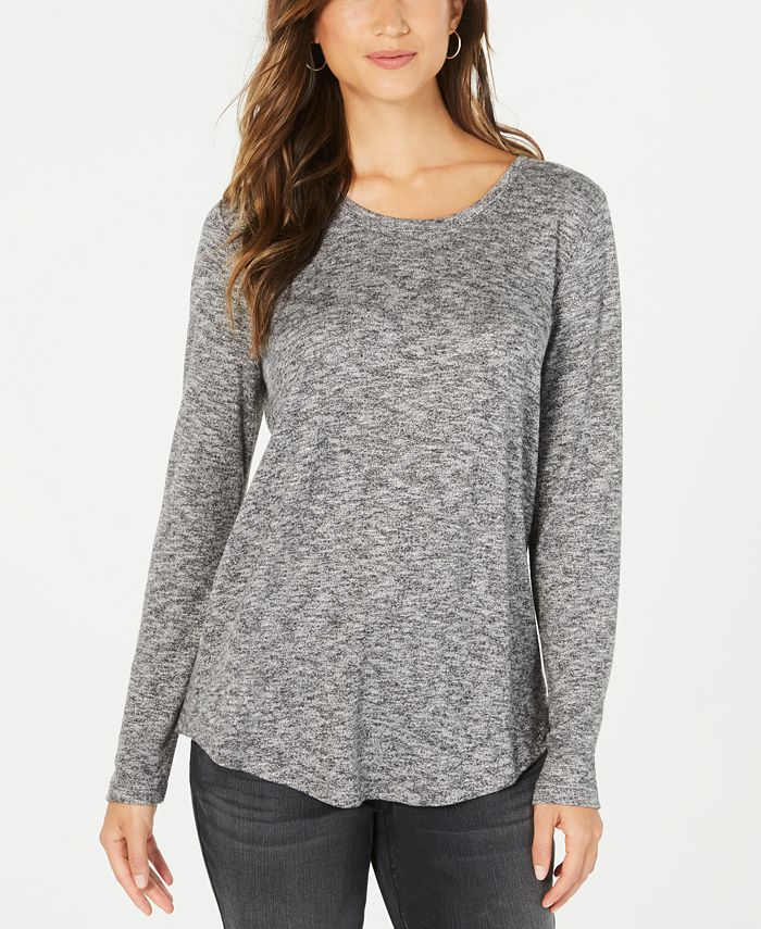 Style & Co - Long-Sleeve Scoop-Neck Top