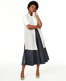 Charter Club Sleeveless Open-Front Cashmere Sweater, Created for Macy's