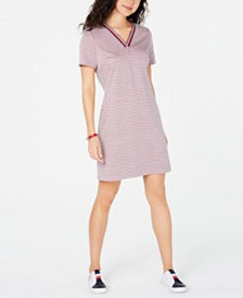Tommy Hilfiger V-Neck Short-Sleeved Dress, Created for Macy's
