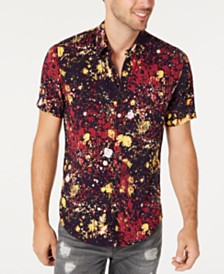 GUESS Men's Paint Splatter Shirt