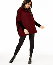Cashmere Cowl-Neck Poncho, Created for Macy's