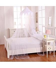 Cottonloft Harlequin Collapsible Hoop Sheer Mosquito Net Bed Canopy