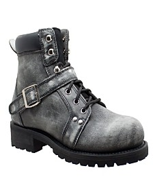 "AdTec Men's 6"" Lace Zipper Boot"