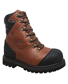 "AdTec Men's 7"" Steel Toe Work Boot Reddish"