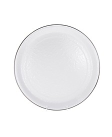 "Solid White Enamelware Collection 20"" Serving Tray"