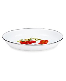 """Golden Rabbit Tomatoes Enamelware Collection 10"""" Pasta Plate"""