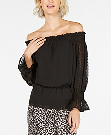 INC Textured Off-The-Shoulder Top, Created for Macy's