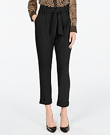 INC Petite Paperbag-Waist Pants, Created for Macy's