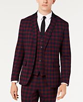 INC Men's Slim-Fit Tartan Blazer, Created for Macy's