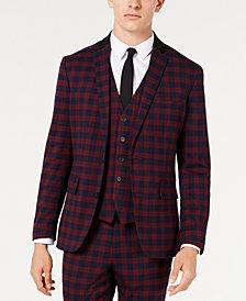 INC Men's Slim-Fit Tartan Blazer, Created for Macy's