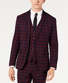 I.N.C. Men's Slim-Fit Tartan Blazer, Created for Macy's