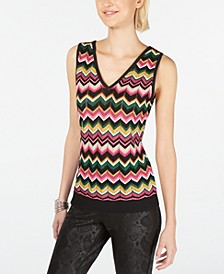 INC Zig-Zag Sweater Tank Top, Created for Macy's