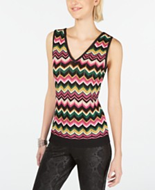 I.N.C. Zig-Zag Sweater Tank Top, Created for Macy's