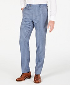 Men's Classic-Fit UltraFlex Stretch Light Blue Pinstripe Suit Pants