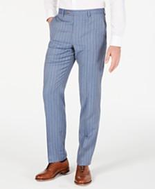 Lauren Ralph Lauren Men's Classic-Fit UltraFlex Stretch Light Blue Pinstripe Suit Pants