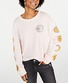 Juniors' Cotton Moon Graphic T-Shirt