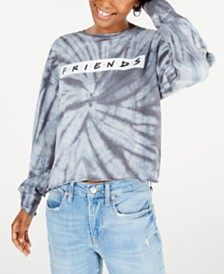 Modern Lux Juniors' Cotton Friends Tie-Dyed T-Shirt