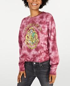 Modern Lux Juniors' Cotton Hogwarts Tie-Dyed T-Shirt