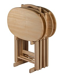 Wood Nathan 5-Piece Snack Table Set