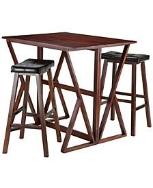Harrington 3-Piece Drop Leaf High Table