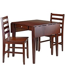Hamilton 3-Piece Drop Leaf Dining Table with 2 Ladder Back Chairs