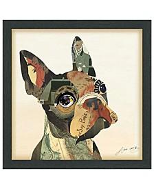 'French Bulldog' Dimensional Collage Wall Art - 17'' x 17''