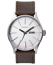 Men's Sentry Leather/Canvas Strap Watch 42mm