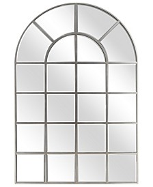 "Solid Wood Base Covered with Beveled Arch Window Mirror - 30"" x 40"""