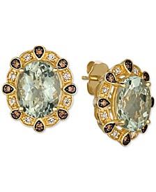 Mint Julep Quartz (5 ct. t.w.) & Diamond (1/4 ct. t.w.) Ring in 14k Gold