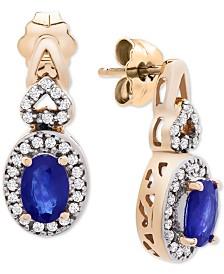 Sapphire (1-3/4 ct. t.w.) & Diamond Accent Drop Earrings in 14k Gold