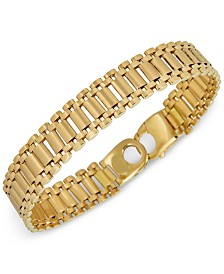 Italian Gold Men's Link Chain Bracelet in 18k Gold